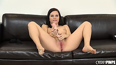Brandi Belle can't stop fingering herself as she dreams of cock