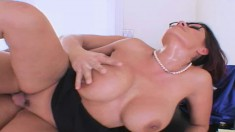 Curvaceous milf Ava Lauren bends over and gets nailed deep doggy style