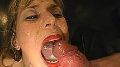 Lusty eye candies can't wait to have their mouths stuffed with man meat