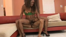 Ebony goddess with a perfect big booty Cali Caramel loves black meat