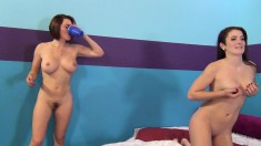 Krissy Lynn and Eden Young in a hot threesome and smoking on a break