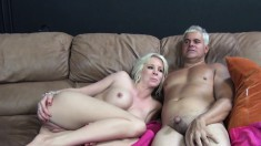 Sultry blonde with big tits Eden Adams loves to take it hard and deep
