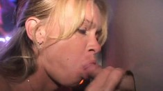 Insatiable Blonde Milf Fulfills Her Bareback Desires At The Gloryhole