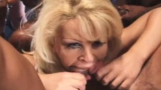 Slutty Girls Dolly Golden And Monique Blow As Many Cocks As They Can