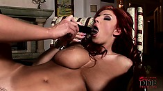 Euphoric pussy poking fun for this blonde and busty redheaded