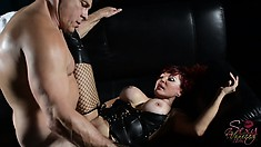 Sexy Vanessa spreads her legs wide open and his dick fills every inch of her pussy