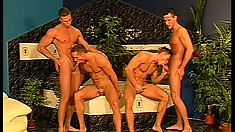 It's a major fuck fest of fun for this four pack of horny gay guys