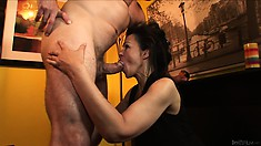 Middle-aged slut can't believe that this dick is so fucking tasty
