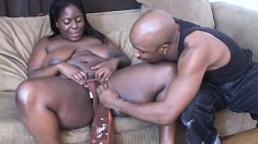 Chyna White shaves her nasty snatch before it gets a good dicking