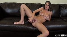 Kortney savors the delicious taste of her fingers as they come out of her pussy