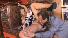 Voluptuous Spanish maid has her horny boss drilling her juicy snatch