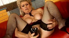Insatiable blonde GILF can't wait to suck a young jackhammer