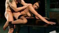 Striking brunette beauty Yoha gets dominated and enjoys pure pleasure