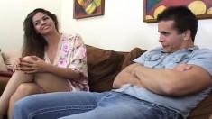 Bodacious cougar June Summers has a younger man fulfilling her needs