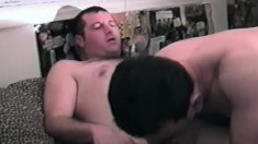 Three attractive gay friends bringing their anal fantasies to reality