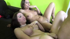 Big Breasted Nymphos Joanna And Tiffany Getting Fucked Hard Together