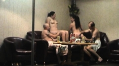 Swingers In Hot Old Vs Young Group Sex