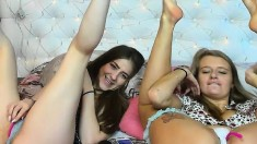 Blonde Teen And Brunette Play Dirty Lesbian Games