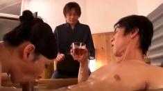Threesome Asian Blowjob