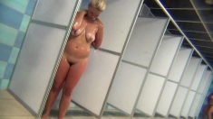 Super Hot Blonde Taking A Shower On Hidden Cam