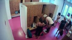 Voyeur Masturbates In Bathroom Showing Striptease
