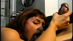 Petite girl with tiny boobs Lola loves to tease and please a huge cock