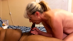 Glam blonde ass cumshot after hardcore anal