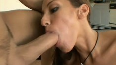 Knowing she's gunna get that sperm makes sexy MILF Adriana squirm