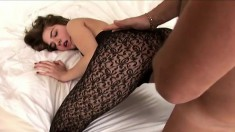 Sexy newbie puts on a kinky outfit for her first hardcore video