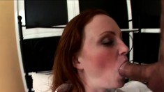 Gorgeous redhead in a school girl outfit gets felt up in a POV video
